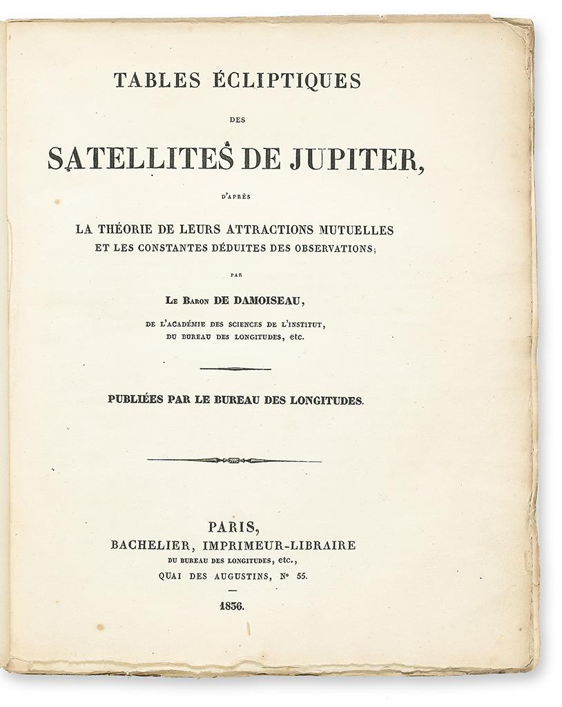 DAMOISEAU-DE-MONTFORT-MARIE-CHARLES-THEODORE-Baron-Tables-Éc