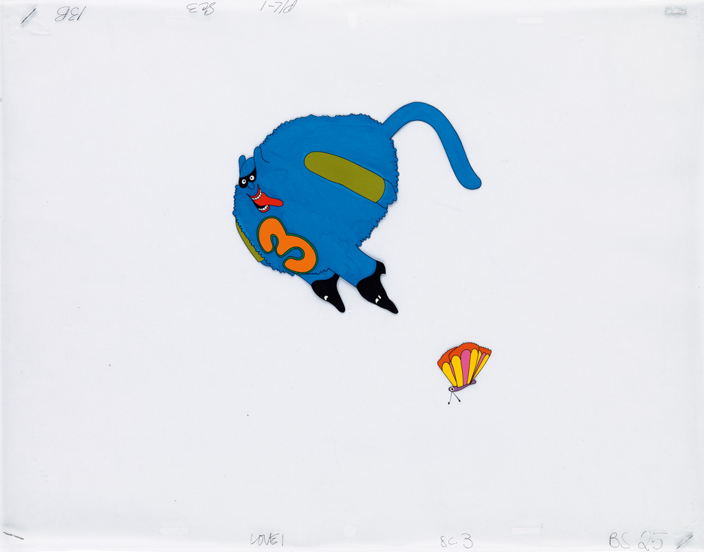 (ANIMATION / THE BEATLES) YELLOW SUBMARINE. Group of 8 original Animation Cels
