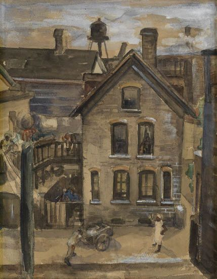 LAWRENCE ARTHUR JONES (1910 - 1996) Chicago Slum.