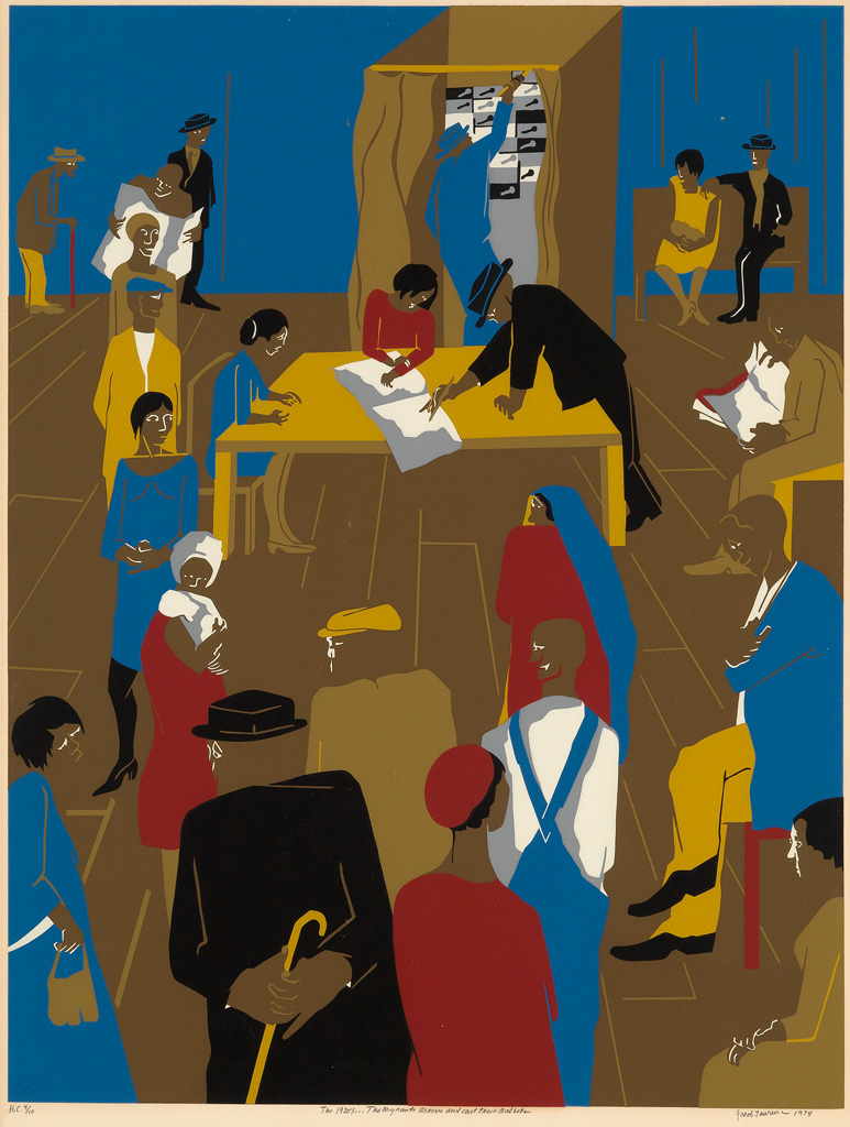 JACOB LAWRENCE (1917 - 2000) 1920s...The Migrants Arrive and Cast Their Ballots.