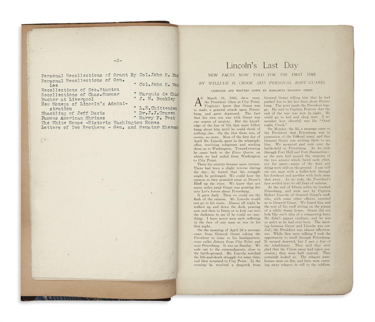 (BOOKS-AND-PAMPHLETS)-Gilbert-ET;-compiler-Abraham-Lincoln-by-Different-Writers-Compiled-from-Various-Magazines