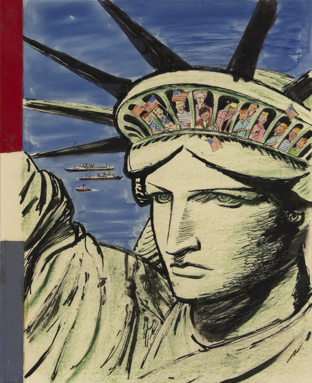 HARRY-BROWN-Class-Trip-[STATUE-OF-LIBERTY--FOURTH-OF-JULY--I
