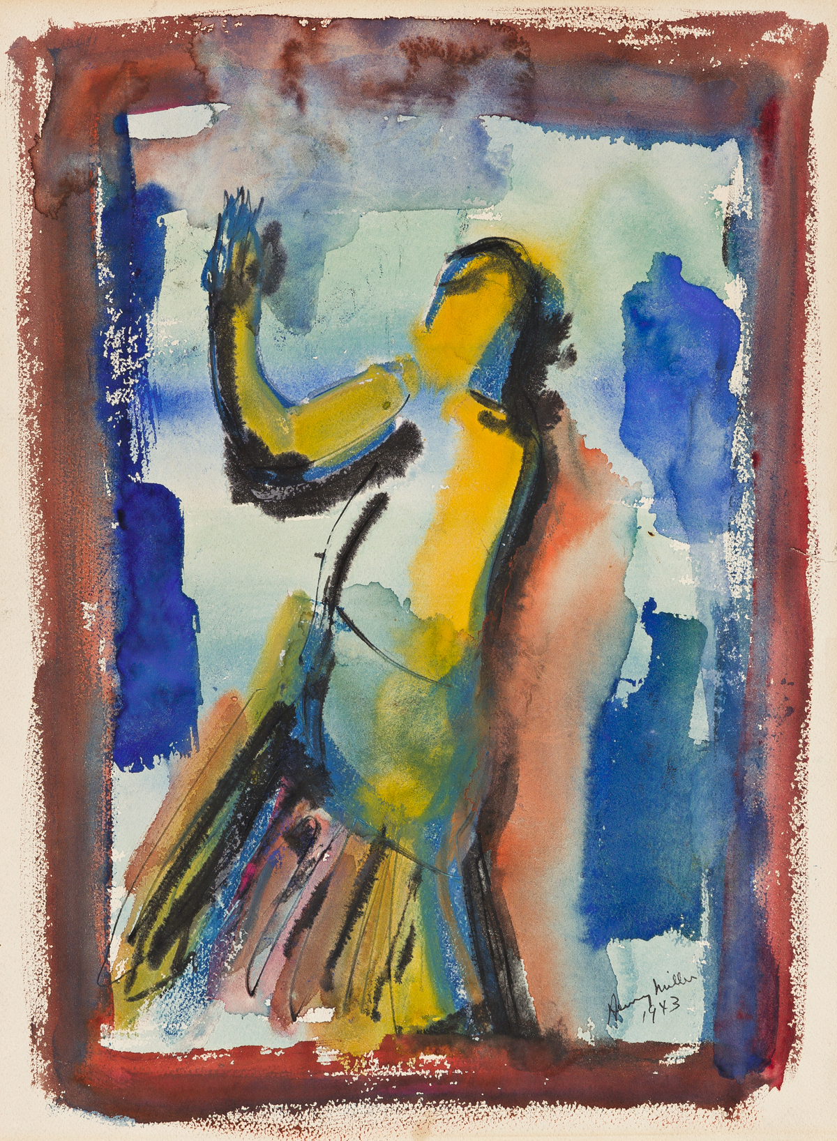 HENRY MILLER Sibylline Figure.