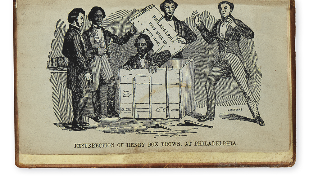 (SLAVERY AND ABOLITION.) Brown, Henry Box. Narrative of the Life of Henry Box Brown.