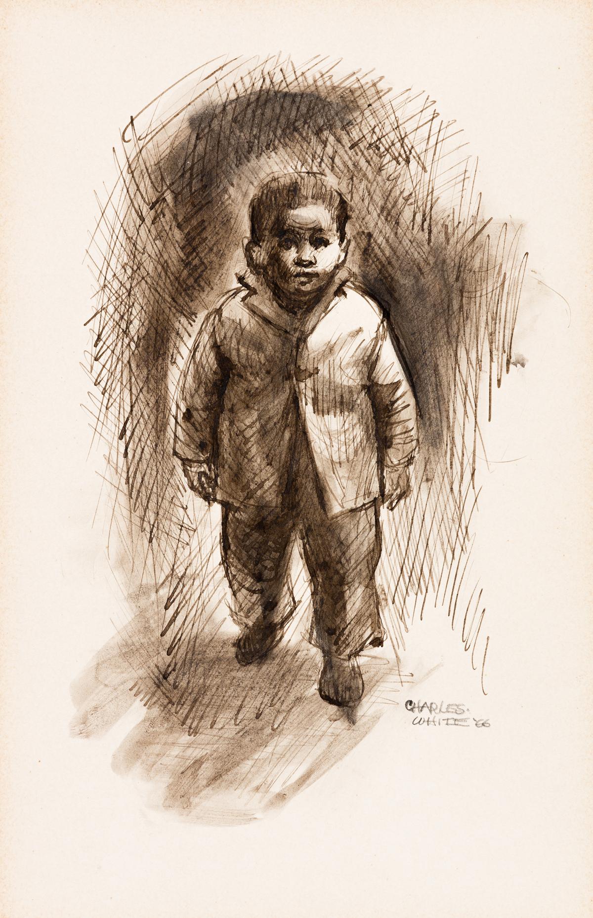 CHARLES WHITE (1918 -1979) Little Boy Walking (Child Walking).