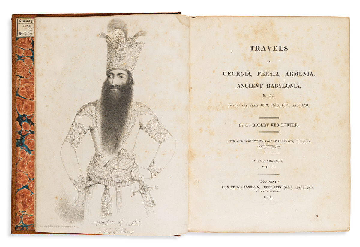 Porter, Robert Ker (1772-1842) Travels in Georgia, Persia, Armenia, Ancient Babylonia during the Years 1817, 1818, 1819, and 1820.