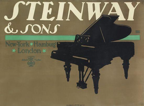 LUCIAN BERNHARD (1883-1972). STEINWAY & SONS. 1910. 27x37 inches, 68x94 cm. Hollerbaum & Schmidt, Berlin.