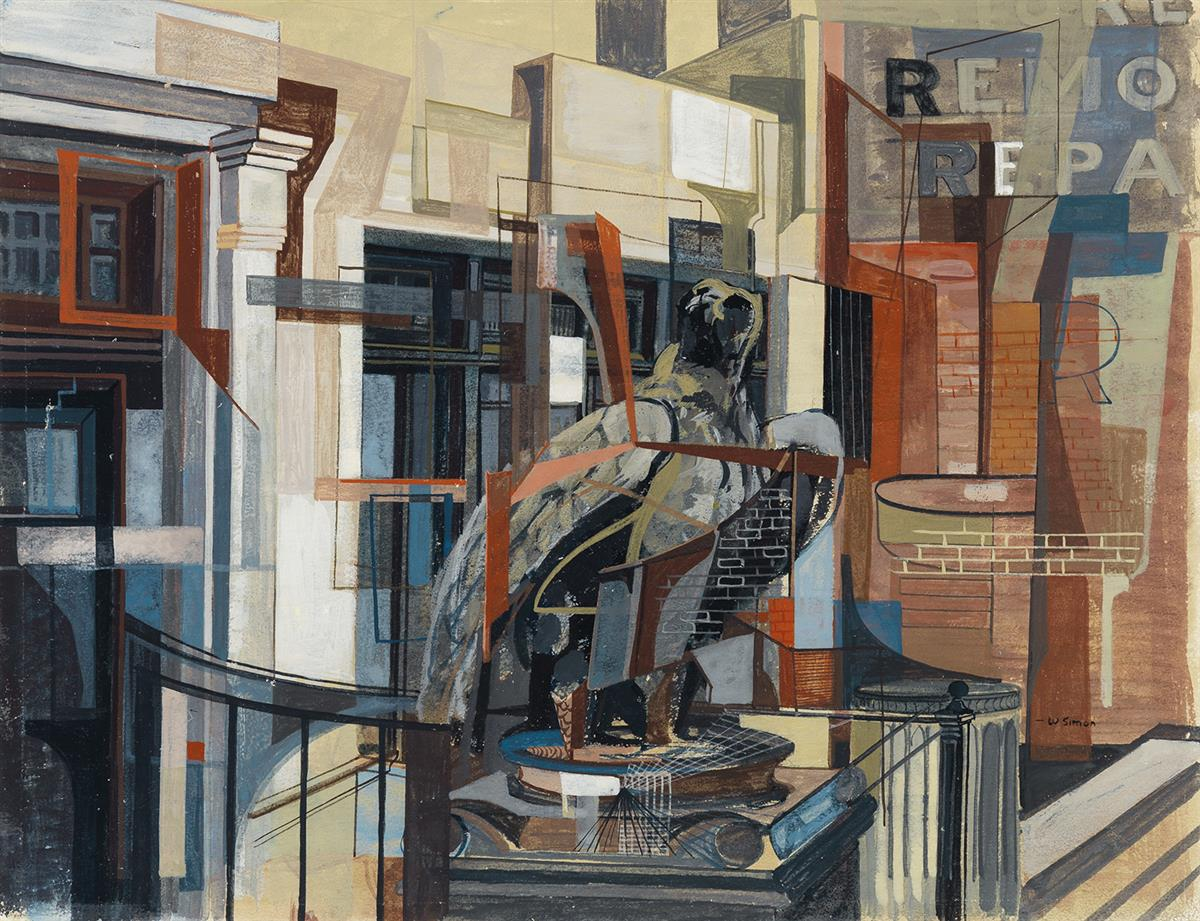 WALTER-AUGUSTUS-SIMON-(1916---1979)-Second-Avenue-New-York-C