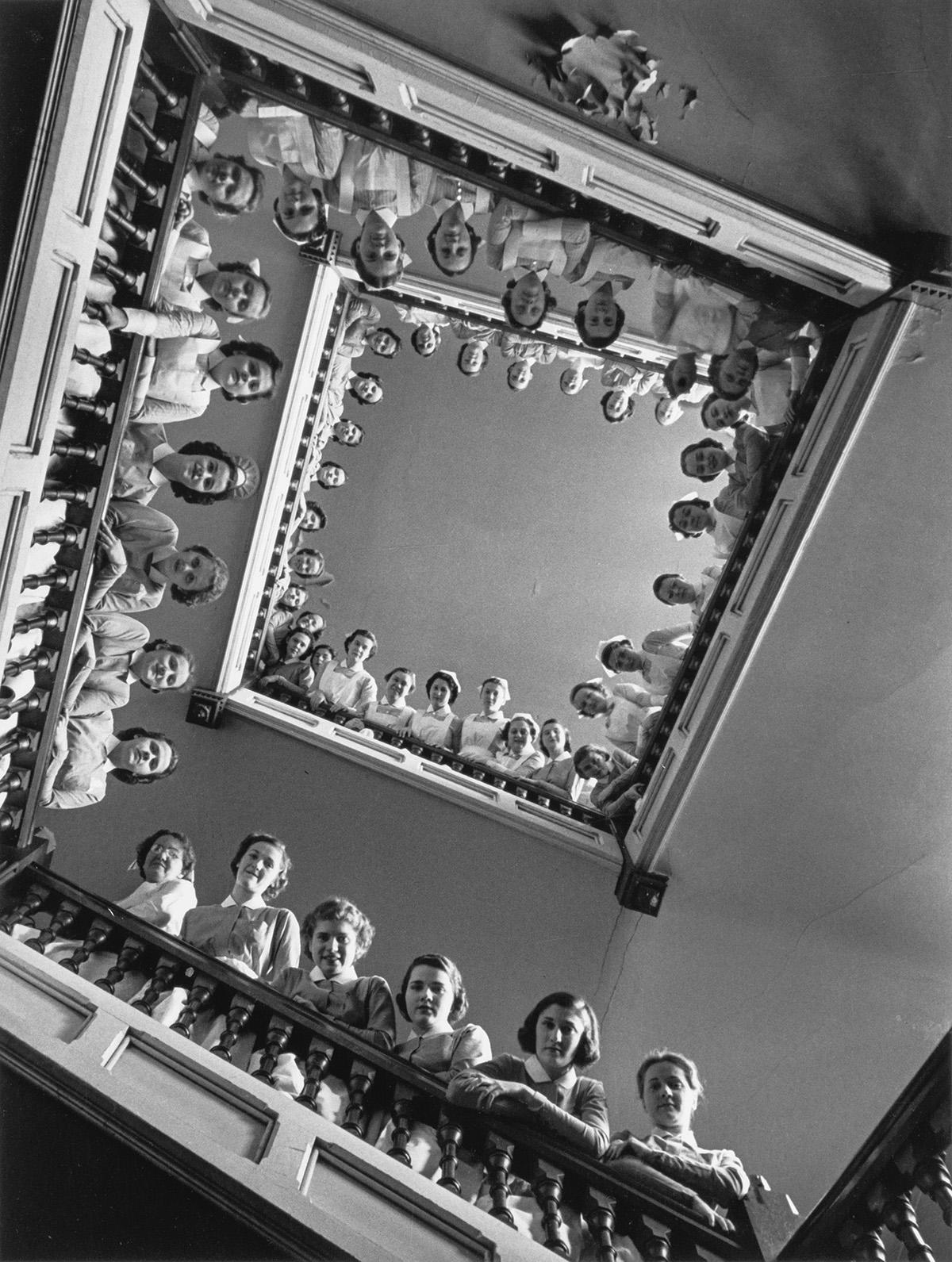 ALFRED-EISENSTAEDT-(1898-1995)-Nurses-at-Roosevelt-Hospital-