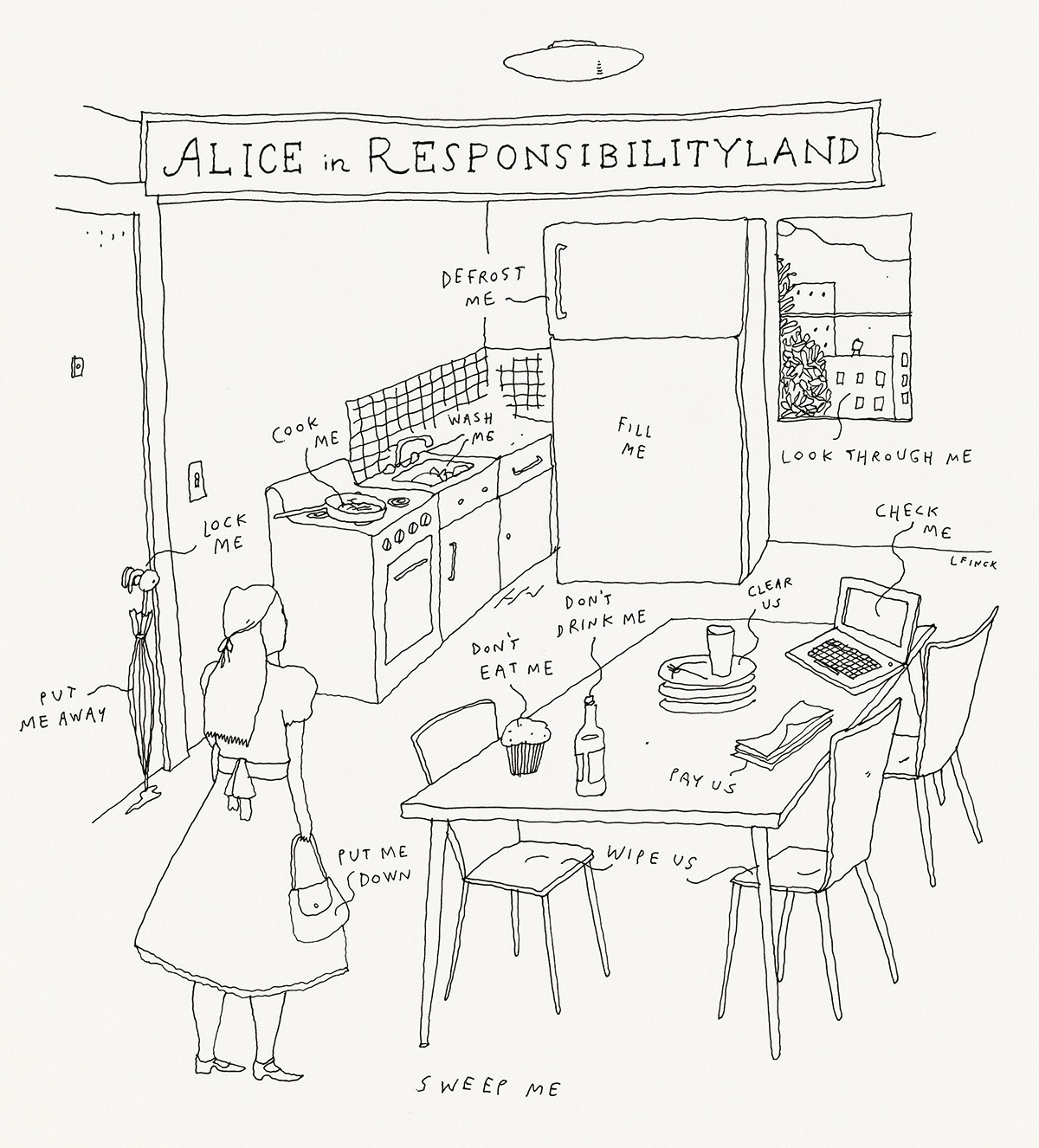 LIANA-FINCK-(THE-NEW-YORKER--CARTOON)-Alice-in-Responsibilit