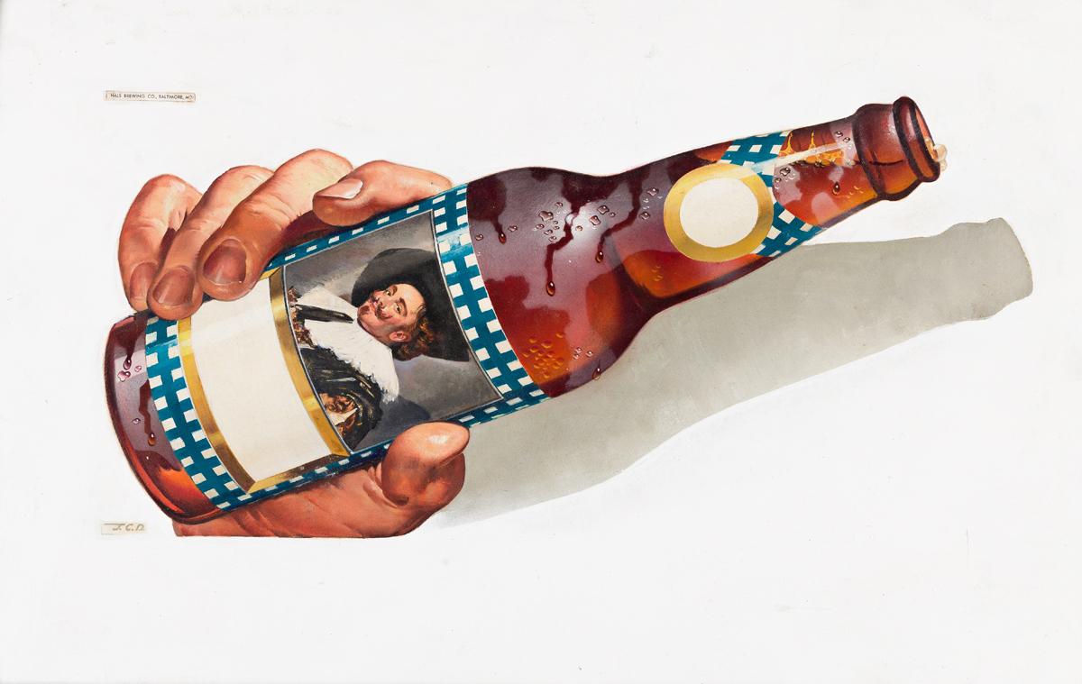 JOHN C. DAMRON (1903-1989) Hals Brewing Co. [ADVERTISING / BEER]