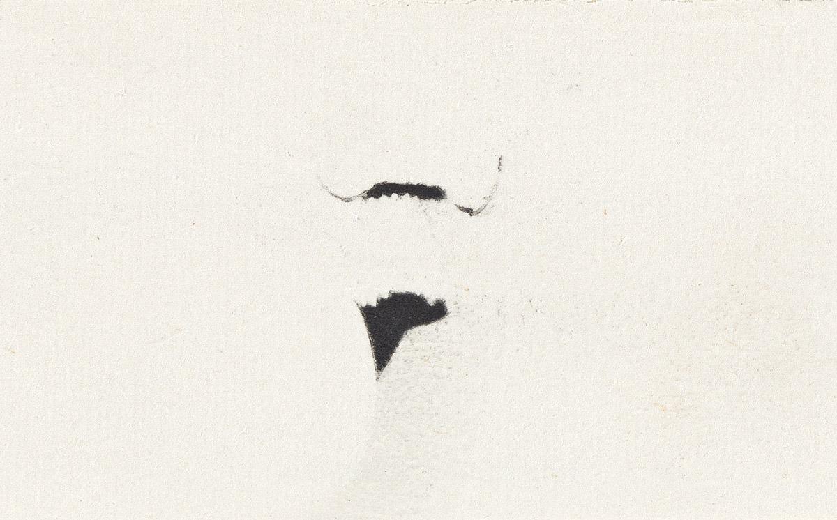 MARCEL DUCHAMP (1887-1968) La Moustache sans la Joconde (Non vouloir ).