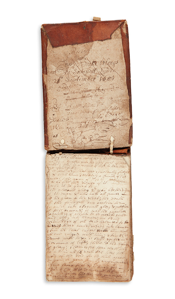(MASSACHUSETTS.) Manuscript notes on 40 sermons attended at Bostons First Church and Old South Church.
