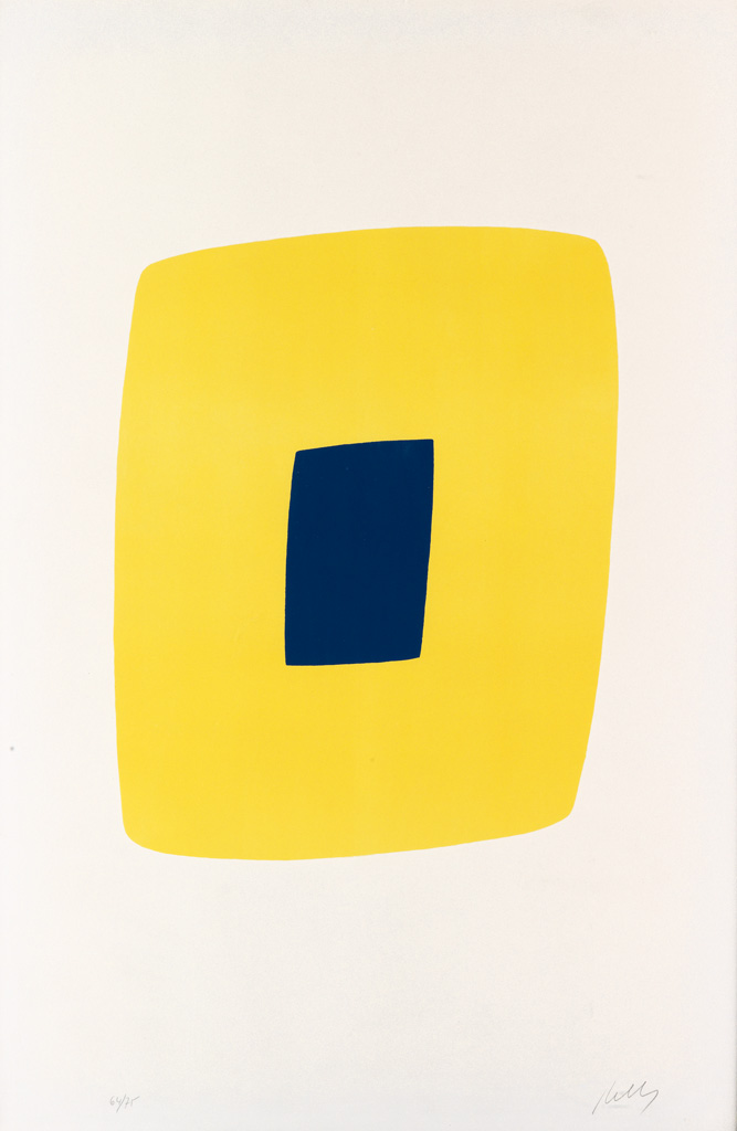 ELLSWORTH KELLY Yellow with Dark Blue.