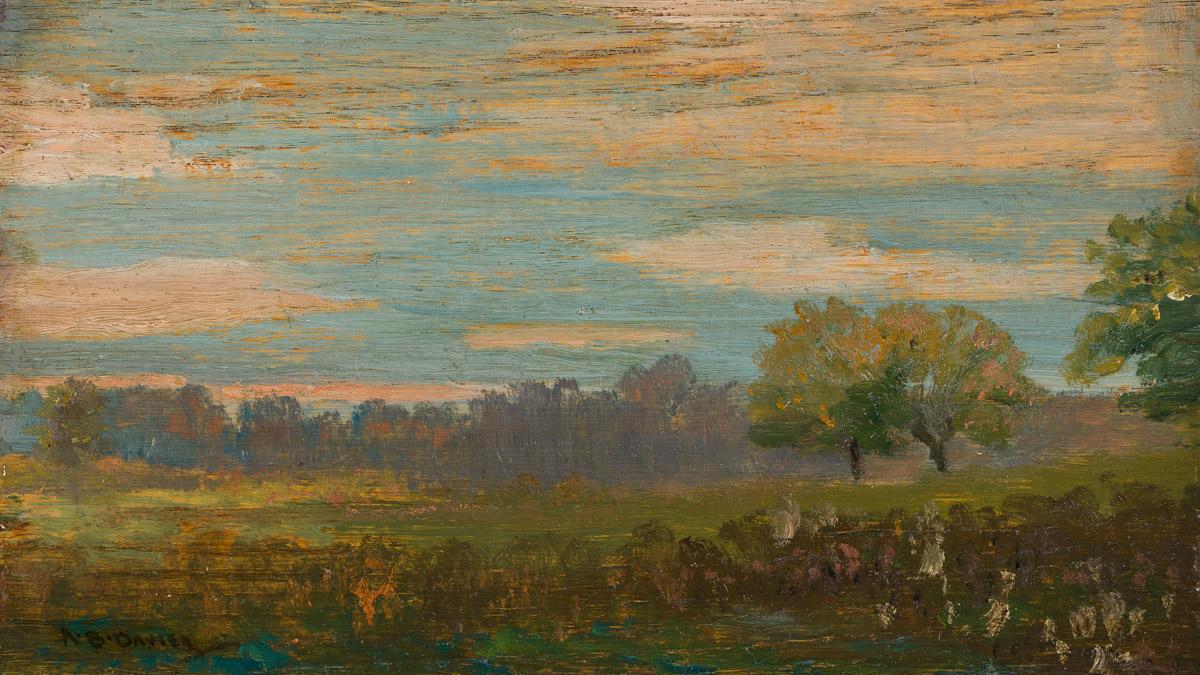 ARTHUR B. DAVIES (1862-1928) Field near Montrose, Colorado.