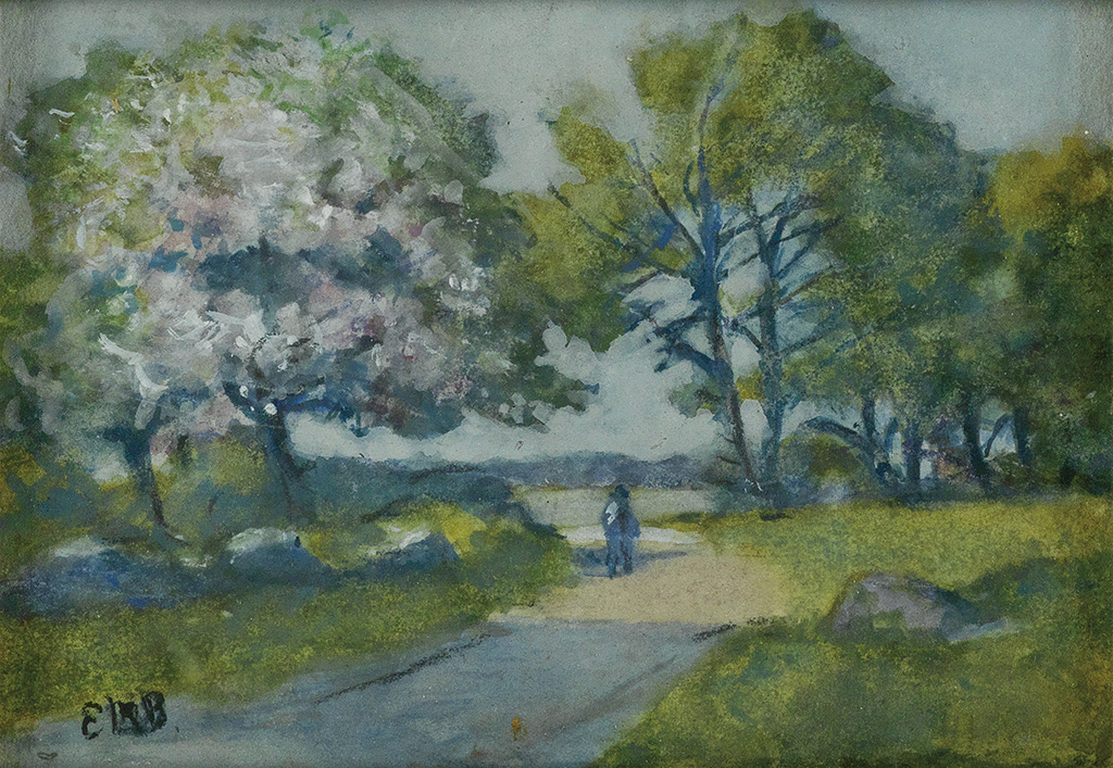 EDWARD-M-BANNISTER-(1828---1901)-Untitled-(Figure-on-a-Path)