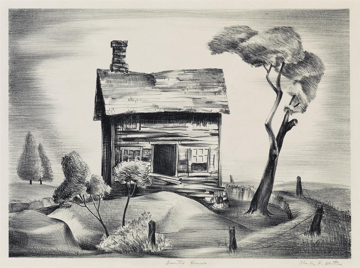 CHARLES-ALSTON-(1907---1977)-Deserted-House