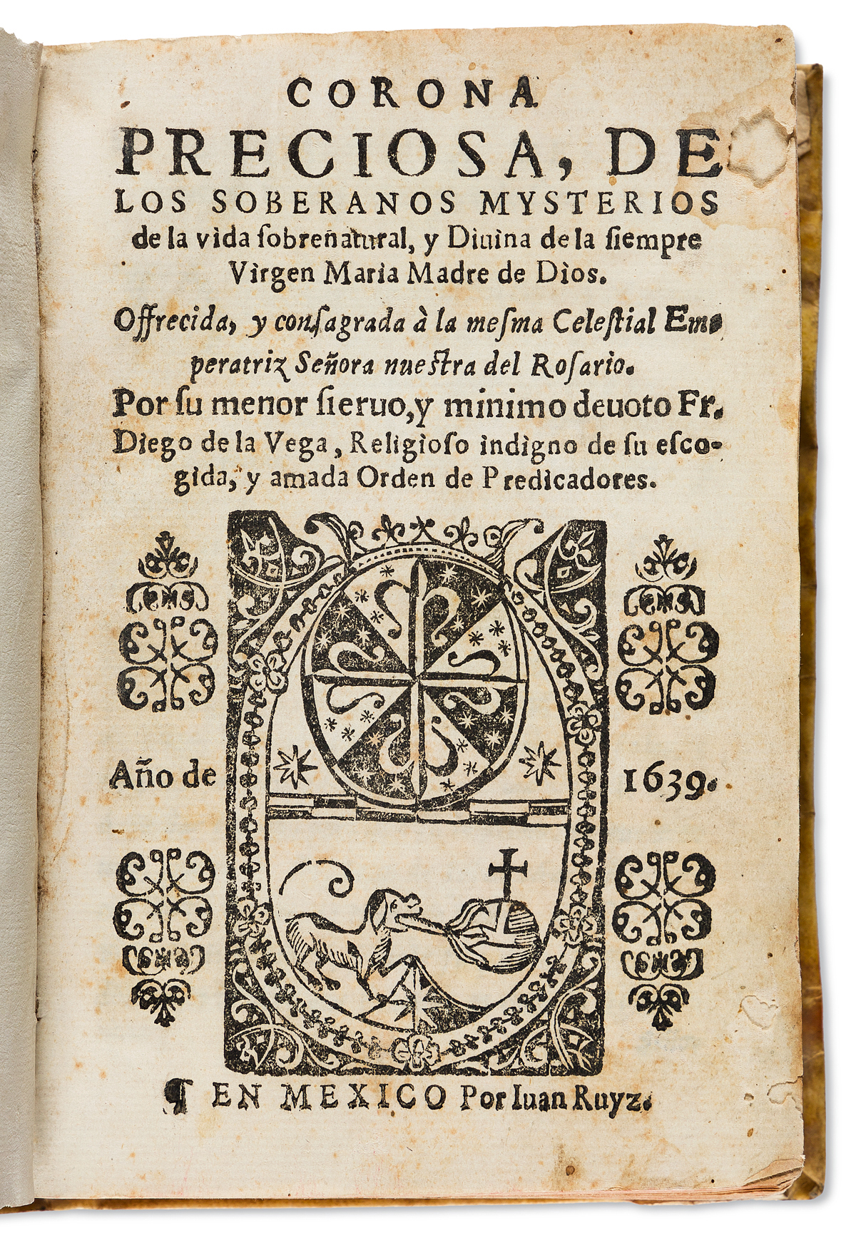 (MEXICAN-IMPRINT--1639)-Diego-de-la-Vega-Corona-preciosa-de-