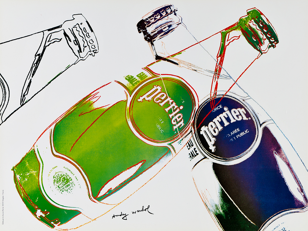 ANDY WARHOL (1928-1987). PERRIER. 1983. 17x23 inches, 44x59 cm.
