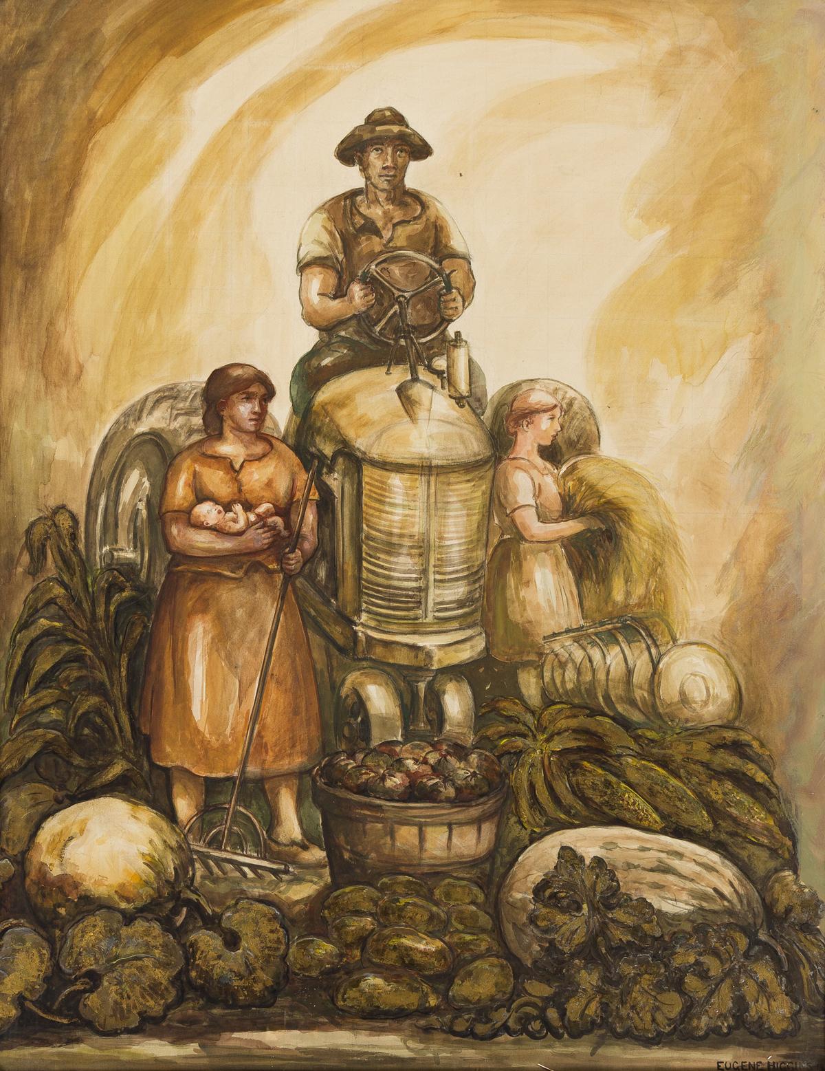 EUGENE HIGGINS (1874-1958) Farm Workers.