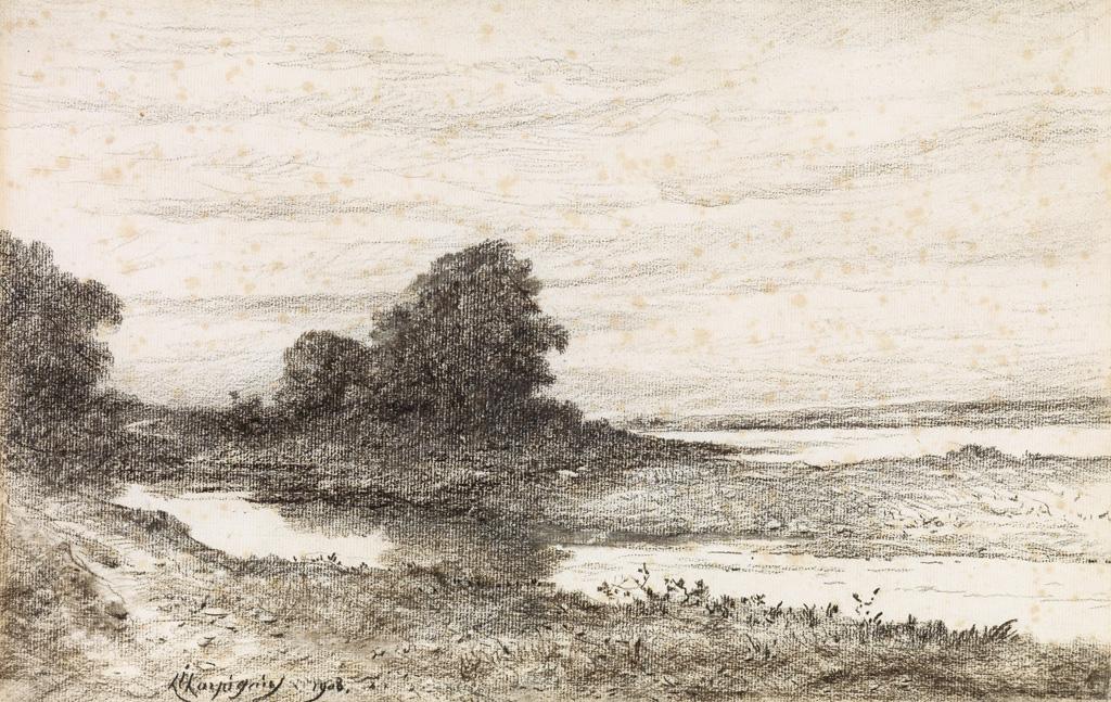 HENRI-JOSEPH HARPIGNIES Île de la Loire.