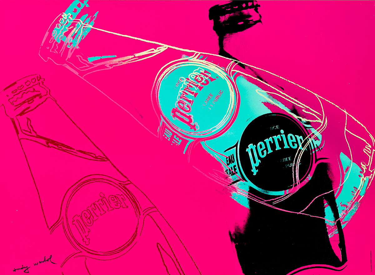 ANDY-WARHOL-(1928-1987)-PERRIER-1983-17x23-inches-44x59-cm-L