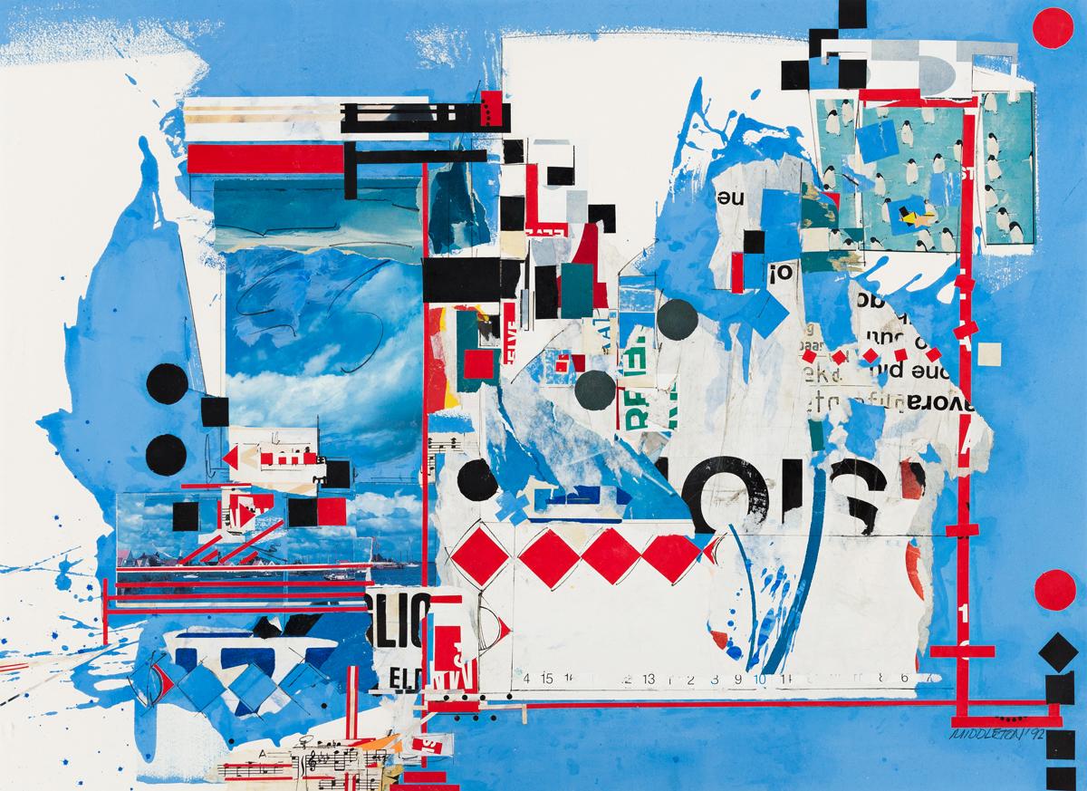 SAM MIDDLETON (1927 - 2015, AMERICAN) Composition.