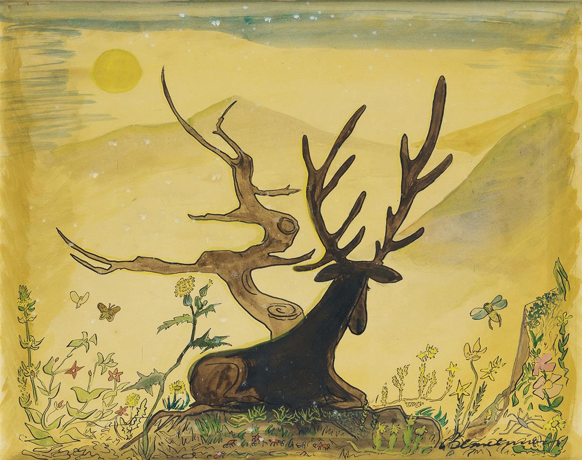 LUDWIG BEMELMANS. The Old Stag and the Tree.
