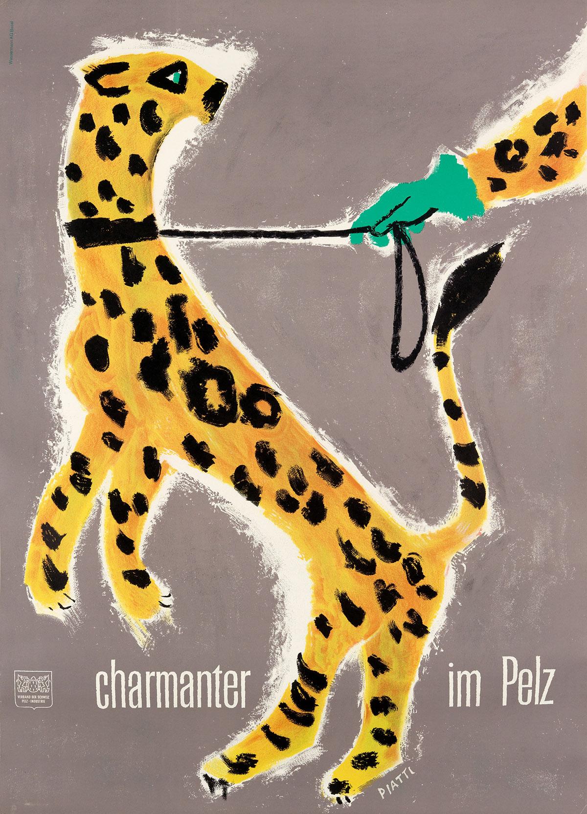 CELESTINO PIATTI (1922-2007). CHARMANTER IM PELZ. 1952. 49x35 inches, 126x90 cm.