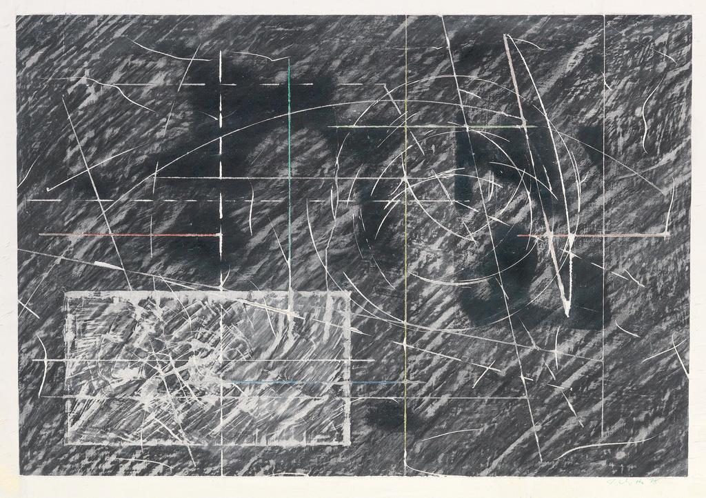 JACK WHITTEN (1939 -   ) Study for Kappa and Sigma, Series II.