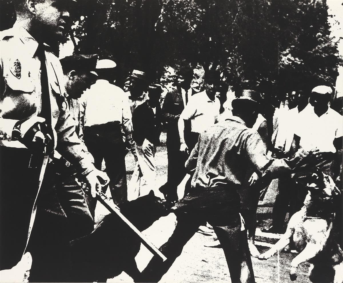 ANDY WARHOL Birmingham Race Riots.