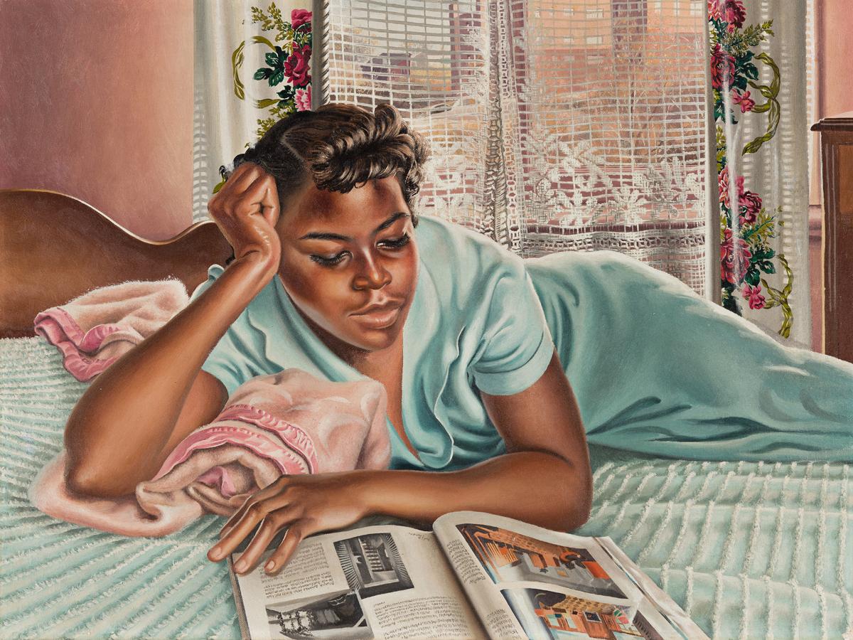 JOHN N. ROBINSON (1912 - 1994) Reclining Woman (Gladys).
