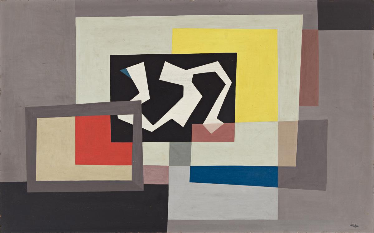 JOHN SKOLLE (1903 1988, GERMAN/AMERICAN) Abstraction, #1.