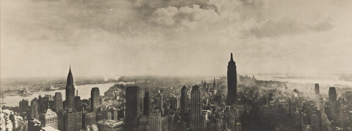 LAURE ALBIN-GUILLOT (1879-1962) Panorama of New York City.