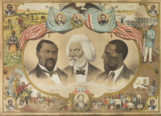 (SLAVERY AND ABOLITION--DOUGLASS, FREDERICK.) Heroes of the Colored Race.