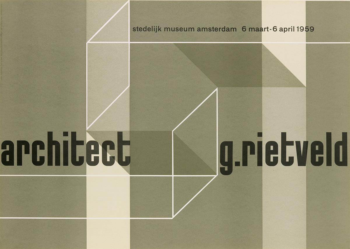 VARIOUS-ARTISTS-RIETVELD--STEDELIJK-MUSEUM-Group-of-3-poster