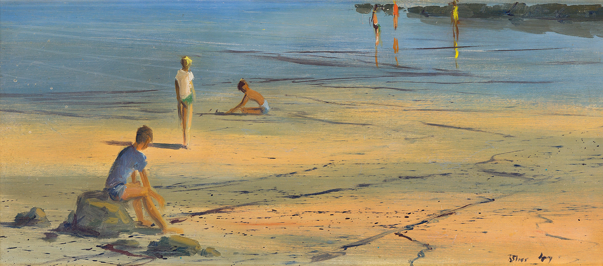 ROBERT BLISS Boys on the Beach, Provincetown Flats.