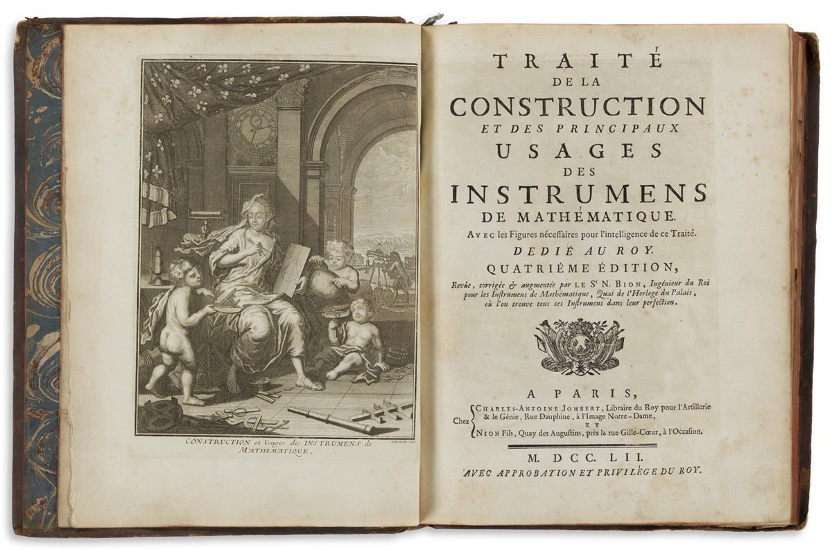 Bion, Nicolas (1652-1733) Traité de la Construction et des Principaux Usages des Instrumens de Mathématique.