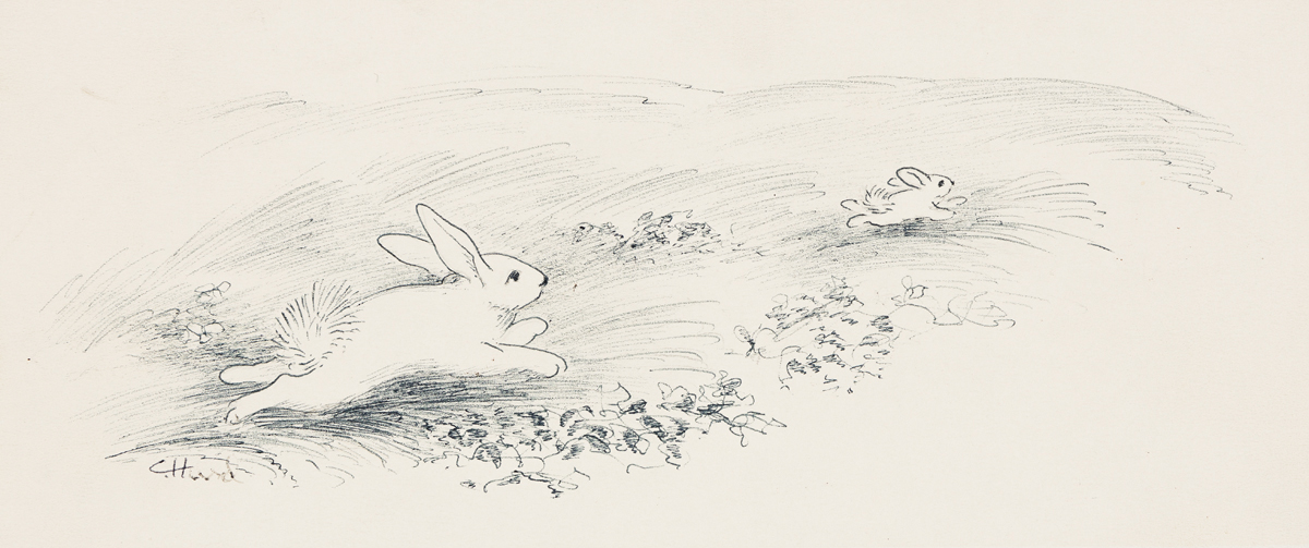 CLEMENT HURD (1908-1988) Running Away. [CHILDRENS / RABBITS]