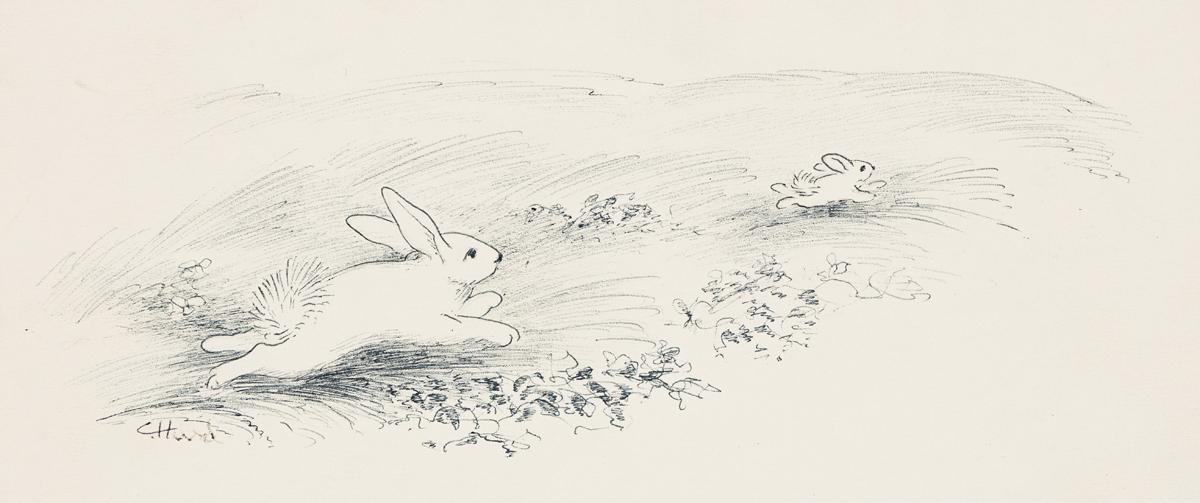 "CLEMENT HURD (1908-1988) ""Running Away."" [CHILDRENS / RABBITS]"