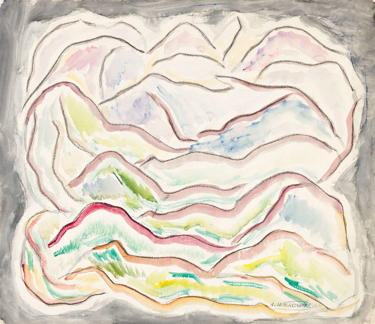 ABRAHAM WALKOWITZ (1878-1965) Abstract Composition (Landscape).