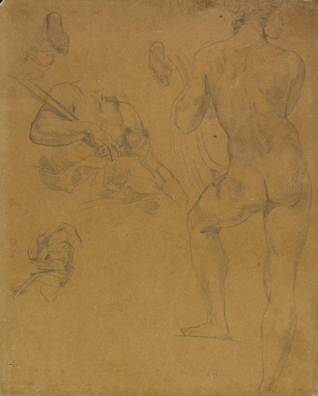 EUGÈNE-DELACROIX-(Eugène-Delacroix-1798-1863-Paris)-Sheet-of
