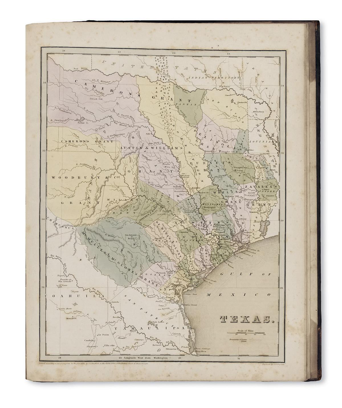 BRADFORD, THOMAS GAMALIEL. An Illustrated Atlas, Geographical, Statistical, and Historical, of the United States,