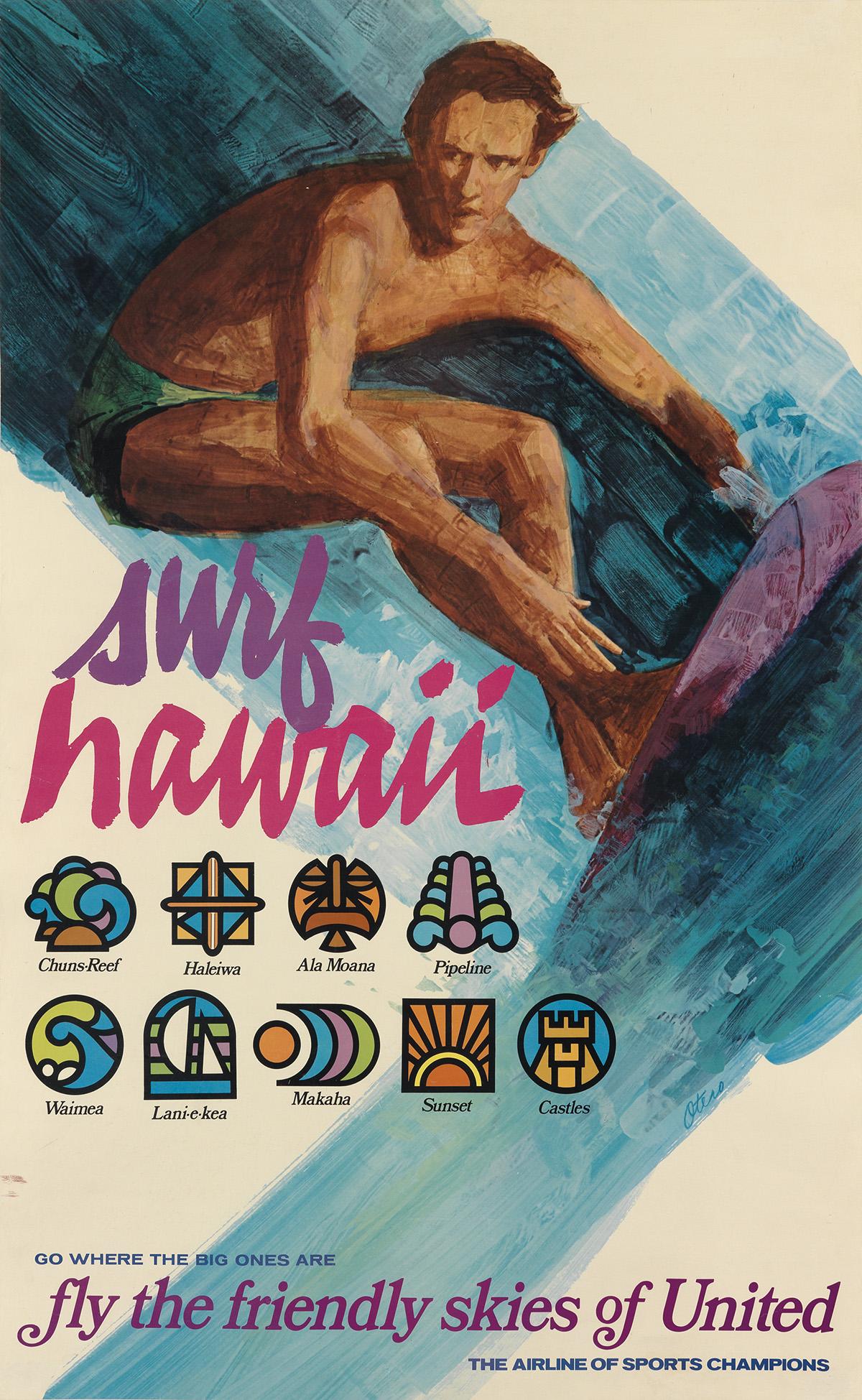 OTERO-(DATES-UNKNOWN)-SURF-HAWAII--UNITED-Circa-1970s-40x25-