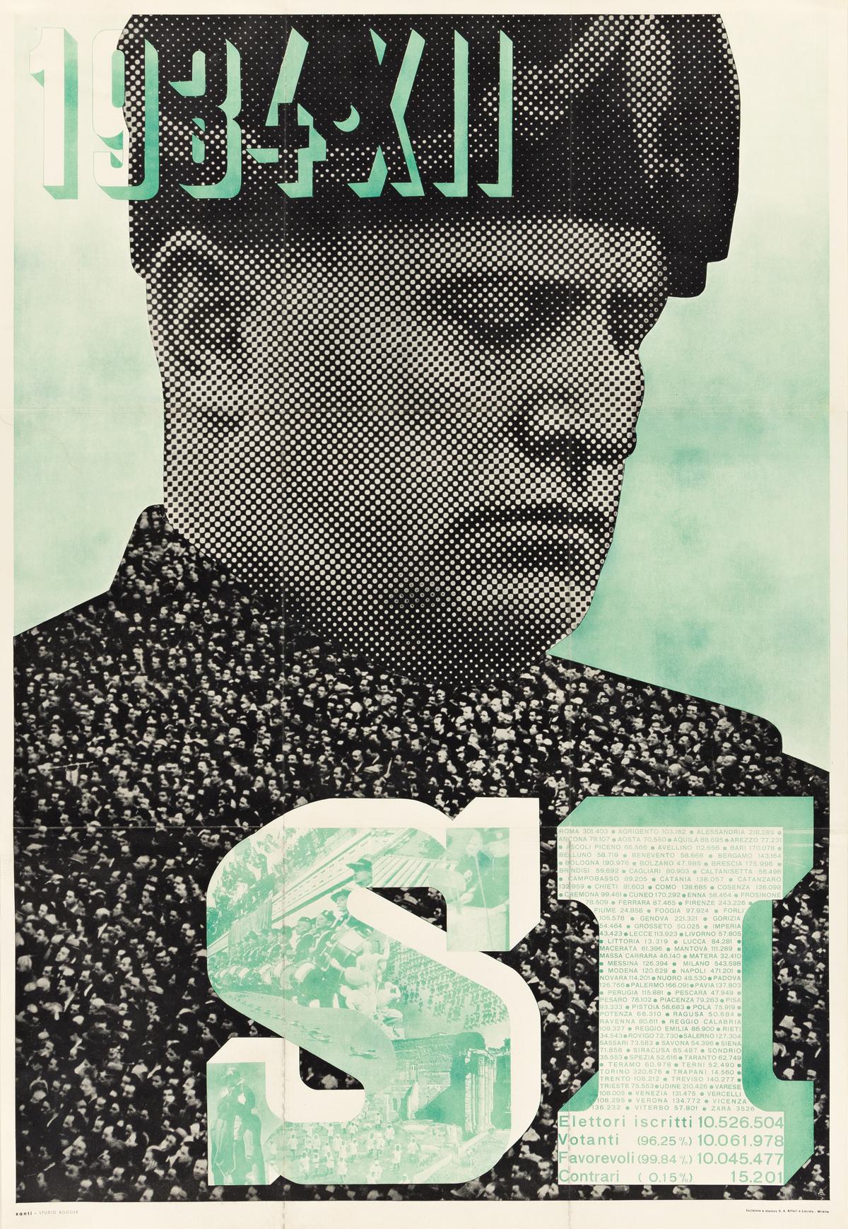 XANTI SCHAWINSKY (1904-1979).  1934 • XII / SI. Poster insert. 1934. 37½x25½ inches, 95¼x64¾ cm. Alfieri E Lacroix, Milan.