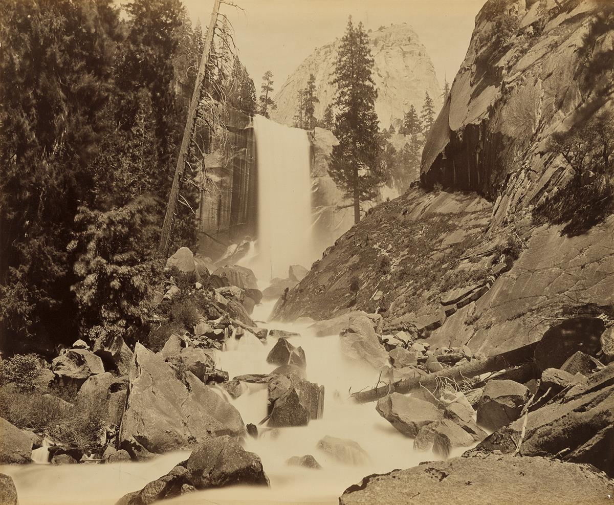 CARLETON-E-WATKINS-(1829-1916)-Vernal-Falls-350-feet-Yosemit