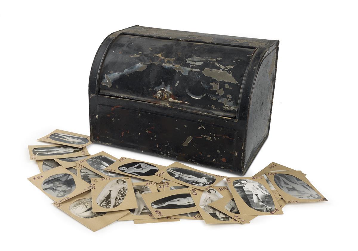 (EROTICA-IN-A-BREAD-BOX)-A-metal-bread-box-containing-approx