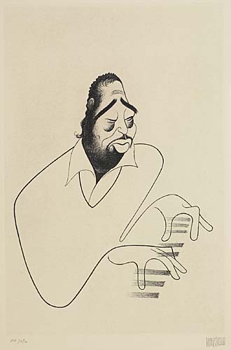 Duke Ellington. Etching, 13 1/4x8 3/4 inches, full margins. Printers proof, signed and annotated PP/2/2 in pencil, lower margi