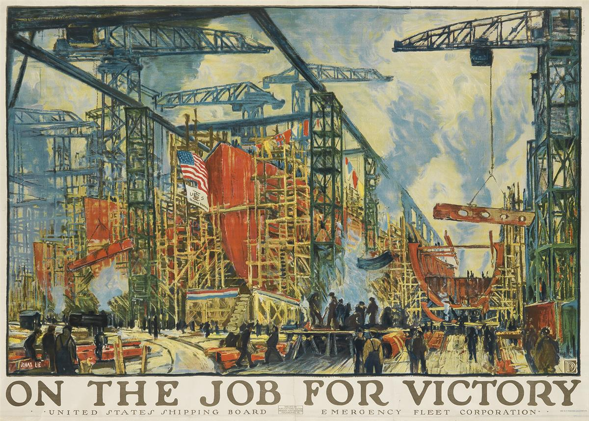 JONAS-LIE-(1880-1940)-ON-THE-JOB-FOR-VICTORY-Group-of-3-dupl