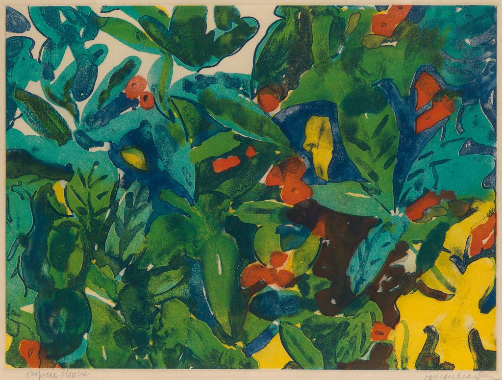 ROMARE BEARDEN (1911 - 1988) Tropical Flowers.